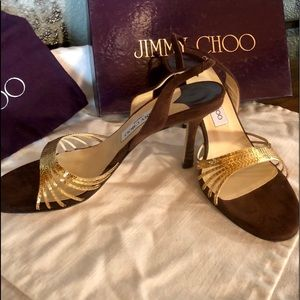 New Jimmy Choo Brown Suede Heels - size 40